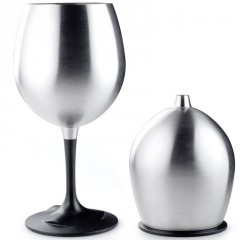 GSI Outdoors Glacier Stainless Nesting Red  Wine Glass